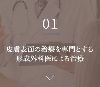 01.皮膚表面の治療を専門とする 形成外科医による治療