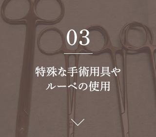 03.特殊な手術用具や ルーペの使用